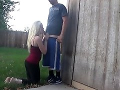 back yard blowjob -ourdirtylilsecret