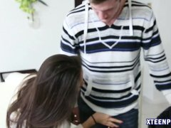 Gorgeous Asian babe field with warm jizz