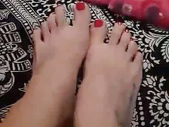 sexy german russian ex girlfriends feet with red polish