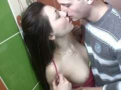 Hard scene in toilet