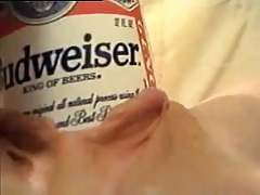 Elizabeth Renfer Beer Can and Fist