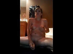 Milf with big nipples dildo orgasm