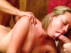 slutty amateur blonde milf with gangbang skills